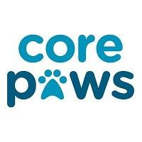Core Paws (Portland, Oregon) logo with pawprint in place of the 'A' in 'Core Paws'