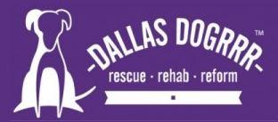 Dallas DogRRR (Allen, Texas) logo with white and purple dog