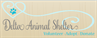 Delta Animal Shelter (Escanaba, Michigan) logo has a blue heart with a tail and a pawprint in the middle