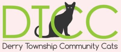 Derry Township Community Cats (Hershey, Pennsylvania) logo with DICC and cat