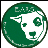 Elizabeth's Animal Rescue and Sanctuary Inc (Odessa, Florida) logo with EARS and white dog on green circle