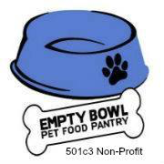Animals and Humans in Disaster, Empty Bowl Pet Food Pantry (Phoenix, Arizona) logo of a blue pet food dish