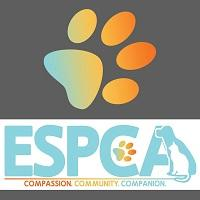 Enid SPCA (Enid, Oklahoma) logo with paw print and 'compassion, community, companion' tagline