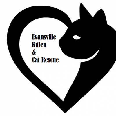 Evansville Kitten and Cat Rescue (Evansville, Indiana) logo cat and heart