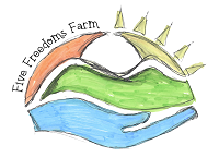 Five Freedoms Farm (Loganville, Georgia) hand and sun logo