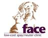 FACE Low-Cost Spay/Neuter Clinic (Indianapolis, Indiana) logo with dog and cat faces