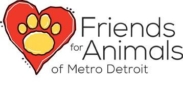 Friends for Animal of Metro Detroit (Dearborn, Michigan) logo of heart with paw print
