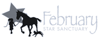 February Star Sanctuary (Knoxville, Maryland) logo with girl, horse, dog and star