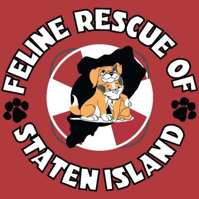 Feline Rescue of Staten Island (Old Bridge, New Jersey) logo dog cat in lifesaving ring pawprints