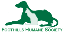 Foothills Humane Society (Columbus, North Carolina) logo with cat & dog in green