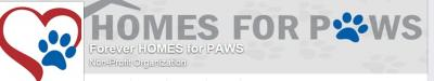 Forever Homes for Paws (Radcliff, Kentucky) logo with heart and blue paw prints