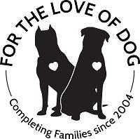 For the Love of Dog - Rottweiler Rescue (Hillsboro, New Hampshire) logo of 2 rottweilers and hearts