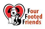 Four Footed Friends, (Indiana, Pennsylvania) Logo dog and cat in black and white with red heart and red and black text