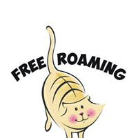 "Free Roaming Feline Program, LTD  (Manitowoc, Wisconsin) logo is a caricature of a cat with ""Free Roaming"""
