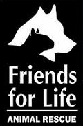 Friends for Life Animal Sanctuary (Gilbert, Arizona) logo of dog and cat silhouette