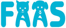 Friends of Arlington Animal Services (Arlington, Texas) logo of blue FAAS with dog and cat