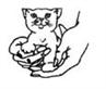Friends of Cats (El Cajon, California) logo has hands holding a kitten