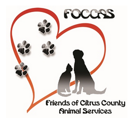 Friends of Citrus County Animal Services (Hernando, Florida) logo has a heart with pawprints and a dog and cat