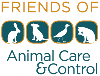 Friends of San Francisco Animal Control & Care (San Francisco, California) logo has a rabbit, dog, duck, and cat in the middle