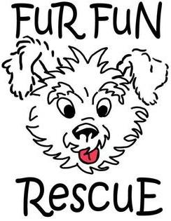 Fur Fun Rescue Inc (Lisbon, Iowa) logo of dog with Fur Fun Rescue text