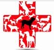 Furever Buddys Rescue (Roosevelt, Utah) logo of cross with dogs