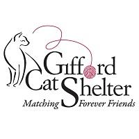 Ellen M Gifford Sheltering Home (Brighton, Massachusetts) logo with cat, pink ball of yarn & 'Matching Forever Friends' tagline