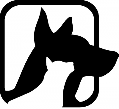 Good Shepherd Humane Society (Eureka Springs, Arkansas) logo with black dog and white cat