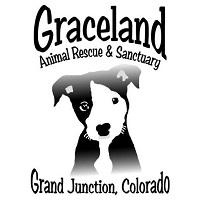 Graceland Animal Rescue & Sanctuary (Grand Junction, Colorado) logo with black and white puppy face