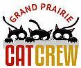 Grand Prairie CAT CREW (Grand Prairie, Texas) logo of three black cats with white eyes over Cat Crew