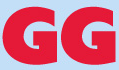"Grateful Greyhounds (North Babylon, New York) logo of red ""GG"" letters on blue background"