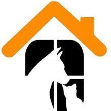 Housing Equality & Advocacy Resource Team (HEART) (Los Angeles, California) logo is orange roof with black & white cat & dog