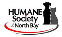 "Humane Society of the North Bay (Vallejo, California) logo has a dog & cat sitting next to the name with a heart dotting the ""i"""