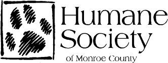Humane Society of Monroe County (Monroe, Michigan) logo of green square and green paw print