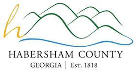 Habersham County Animal Care & Control (Clarksville, Georgia) logo with wavy hills; Established in 1818