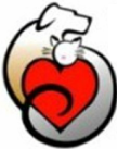 Have a Heart Humane Society (Tehachapi, California) logo has a dog and cat curled up around a heart