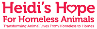 Heidi's Hope For Homeless Animals, Inc. (Wilmington, North Carolina) logo of dog and text and heart
