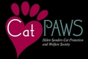 Helen Sanders Cat Protection and Welfare Society (Seal Beach, California) logo of heart paw and cat paws