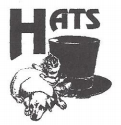 Humane Animal Treatment Society (Mount Pleasant, Michigan) logo contains initials HATS with black top hat next to a dog & cat