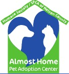 Humane Society/SPCA of Nelson County (Lovingston, Virginia) logo is dog and cat inside a heart inside a house