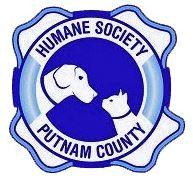 Humane Society of Putnam County (Cookeville, Tennessee) logo has heads of a dog & cat facing each other inside a lifesaver