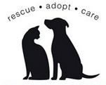 Humane Society of Southeast Missouri (Cape Girardeau, MO) logo of cat, dog and rescue, adopt and care text
