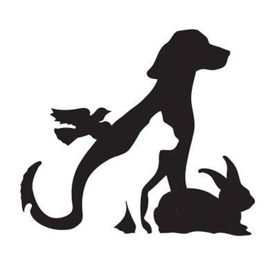 Humane Society of Sonoma County (Santa Rosa, California) logo outlines of dog cat rabbit and bird