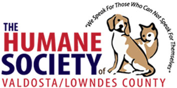 "Humane Society Valdosta/Lowndes County (Valdosta, Georgia) logo: their name, a cat & dog & ""We speak for those who can not..."""