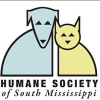 Humane Society of South Mississippi (Gulfport, Mississippi) logo of blue dog and green cat