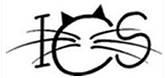 "Independent Cat Society (Westville, Indiana) logo is ""ICS"" with cat ears and whiskers on the ""C"""