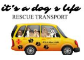 It's a Dog's Life Rescue Transport (Naples, Florida) logo of van with dogs and rescue