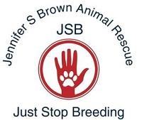Jennifer Sterling Brown Animal Rescue of Holmes County (Lexington, Mississippi) logo is a paw print on a hand inside a circle
