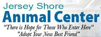 "Jersey Shore Animal Center (Brick, New Jersey) logo says ""There is hope for those who enter here"" & ""Adopt your new best friend"""
