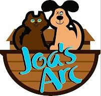 Joa's Arc (Audubon, New Jersey) logo is a dog with one eye and a cat sitting on an ark with the org name below them