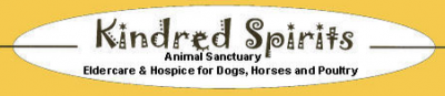 Kindred Spirits Animal Sanctuary (Santa Fe, New Mexico) logo is an oval with the org name in artistic letters